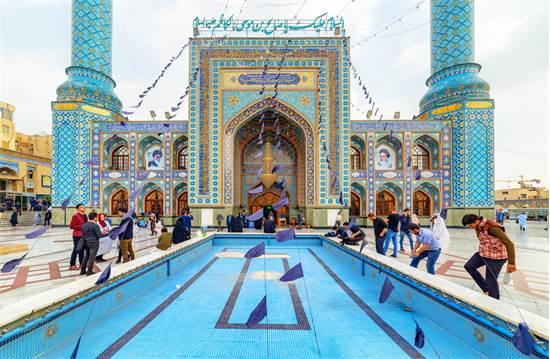 מסגד בטהרן לכבוד סאלח, בנו של הקדוש השיעי מוסא אל-כאט'ם באוקטובר 2018 / צילום: שאטרסטוק
