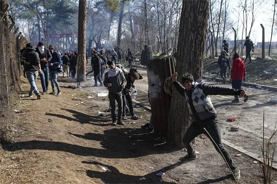 מהומות בגבול יוון טורקיה / צילום: Emrah Gurel, AP