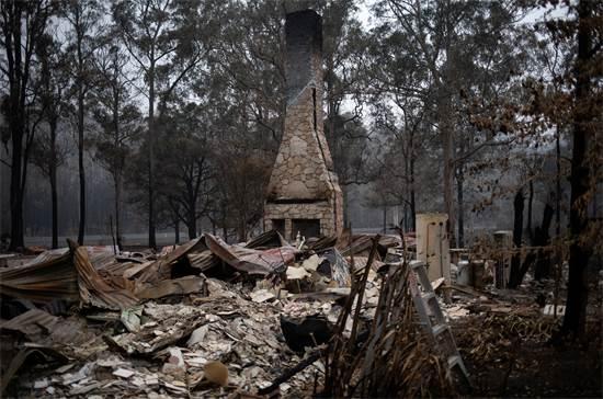 בית שנחרב בשריפות באוסטרליה / צילום: Alkis Konstantinidis, רויטרס