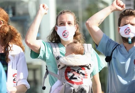 הפגנת הרופאים המתמחים ברחבת הבימה / צילום: שלומי יוסף