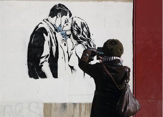 אמנות רחוב בעיר גלאזגו בסקוטלנד / צילום: Andrew Milligan / PA, AP