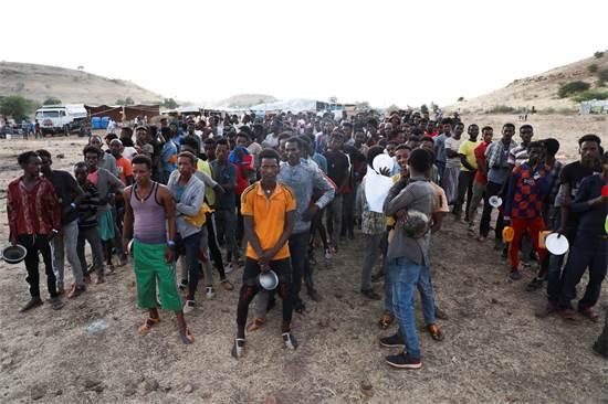 פליטים מאתיופיה בגבול סודאן / צילום: Marwan Ali, AP