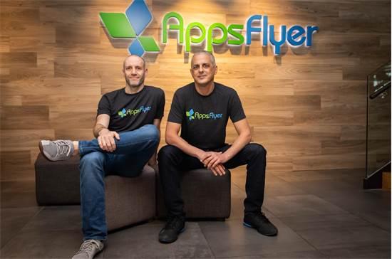 """מייסדי AppsFlyer: מימין לשמאל אורן קניאל ורשף מן / צילום: אפספלייר, יח""""צ"""