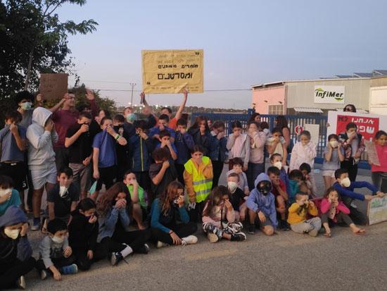 הפגנת תושבי ברקאי / צילום: מתי כנען
