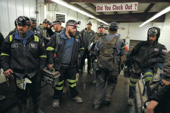 כורי פחם אמריקאים./ צילום: רויטרס  Joshua Roberts
