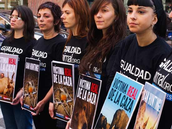 הפגנה נגד מלך ספרד שיצא לציד פילים /  צילום: רויטרס Susana-Vera