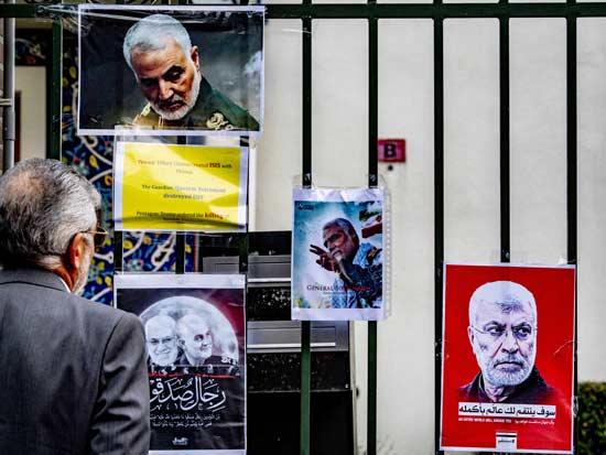 אבל באיראן על חיסול קאסם סולימאני. / צילום: רויטרס - Utrecht Robin-abacapress.com