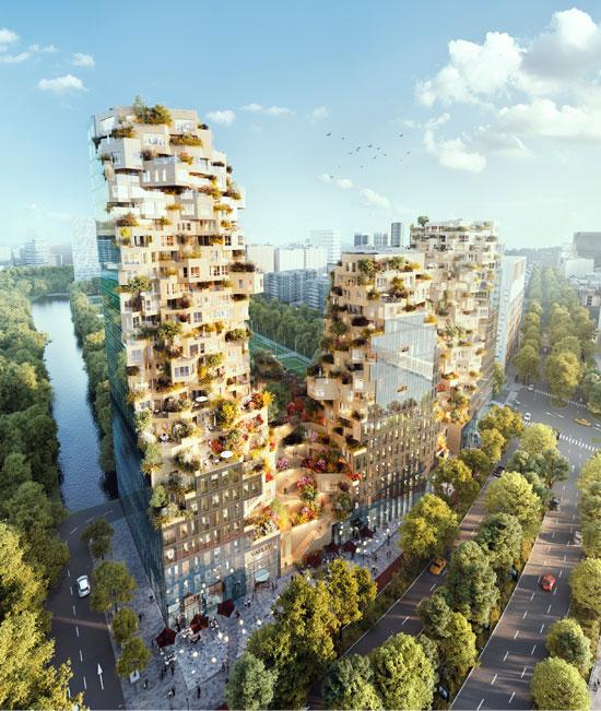 הדמיה של פרויקט Valley באמסטרדם, שבנייתו נשלמת בימים אלה / צילום: Valley - MVRDV - Vero Visuals, Rotterdam, The Netherlands