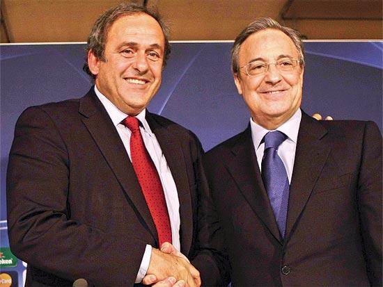 פלורנטינו פרז, נשיא ריאל מדריד, מישל פלטיני, נשיא אופ
