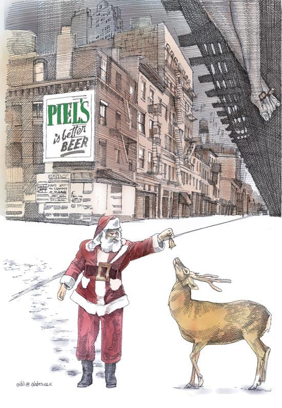 חג מולד בניו יורק, יורם קניוק / איור גיל ג'יבלי