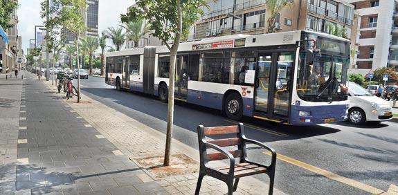 תחבורה ציבורית באבן גבירול / צילום: תמר מצפי
