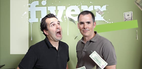 Fiverr founders Micha Kaufman and Shai Wininger