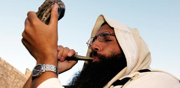 הכותל המערבי ירושלים תפילות יום כיפור דתיים שופר / צלם: בלומברג