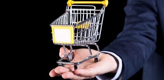קניות און ליין, צרכנות, נתח שוק עגלת קניות / צלם:  טינקסטוק