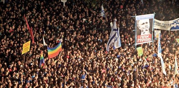 מחאת מעמד הביניים הישראלי  / צילום: רויטרס