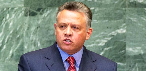 King Abdullah II photo: Reuters