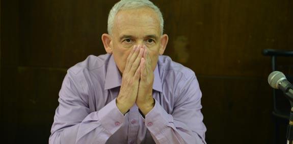 הלל צ'רני בבית המשפט/ צילום: תמר מצפי