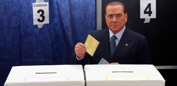 סילביו ברלוסקוני בחירות באיטליה / צילום: רויטרס