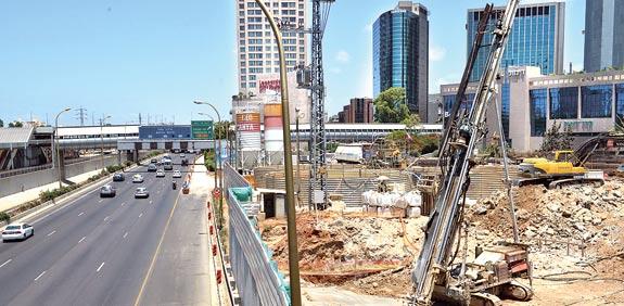 Tel Aviv light rail work