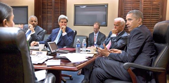 ברק אובמה ג'ו ביידן ג'ון קרי / צילום: רויטרס