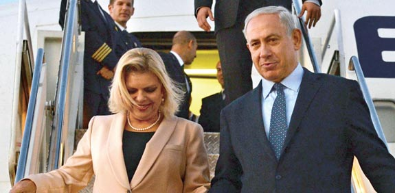 Sara and Benjamin Netanyahu Photo: Kobi Gidon