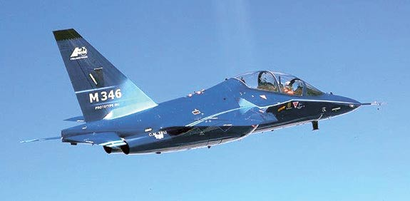 M-346 trainer aircraft