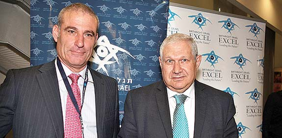 Birthright CEO Mark and Leumi chairman Brodet