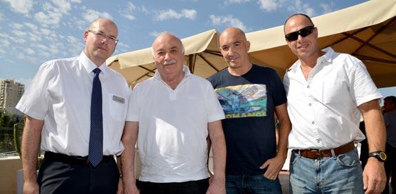 יובל בראון, אייל ואליעזר פישמן ואבי שטרנשוס / צילום: תמר מצפי