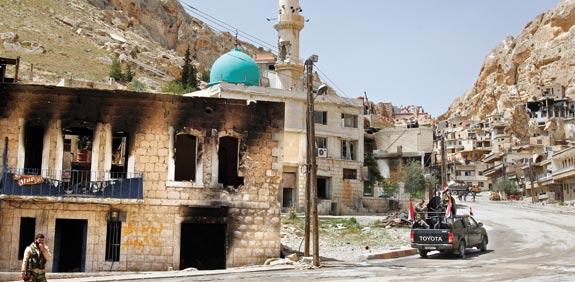 הכפר הסורי מעלולה / צילום: רויטרס