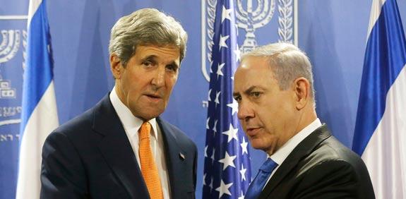 John Kerry Benjamin Netanyahu picture: Reuters