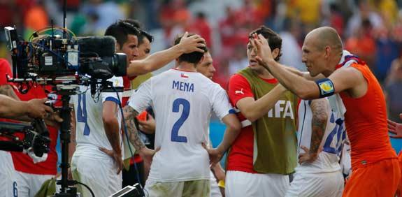 אריאן רובן, נבחרת הולנד, מצלמת טלוויזיה, מונדיאל 2014 / צלם: רויטרס