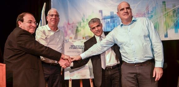 חתימת הסכם הגג עם עיריית ראשון לציון / צילום: אבי קקון