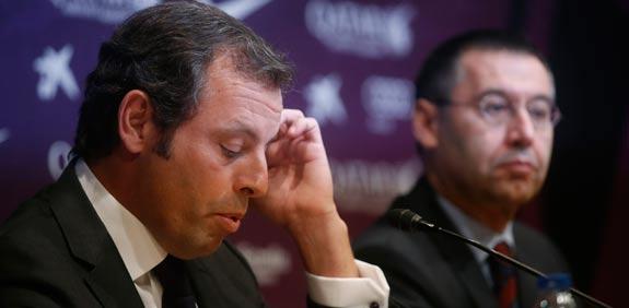 נשיא ברצלונה סנדרו רוסל מתפטר מתפקידו / צלם: רויטרס