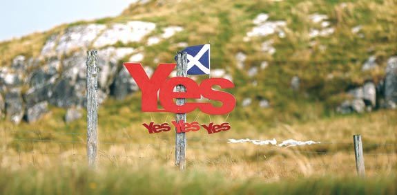 שלט בעד עצמאות סקוטלנד / צילום: רויטרס