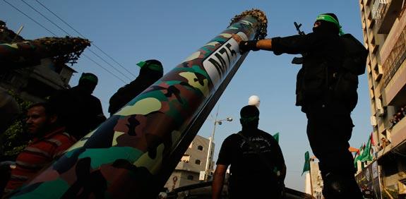 Hamas rocket  Picture: Reuters
