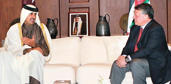 אמיר קטאר ומלך ירדן / צילום: רויטרס
