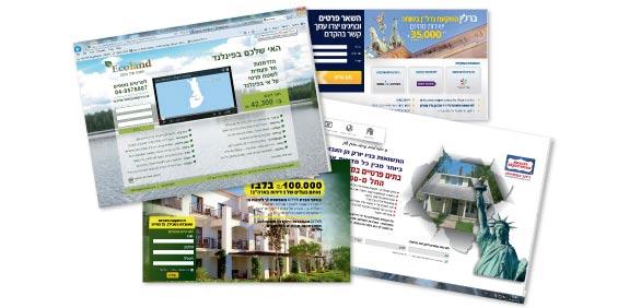 דפים של אתרי אינטרנט / צילום מתוך אתרי האינטרנט