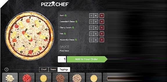 אפליקציית בניית הפיצה