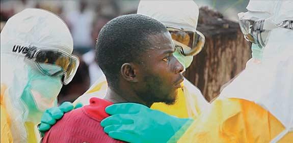 חולה באבולה / צילום: רויטרס