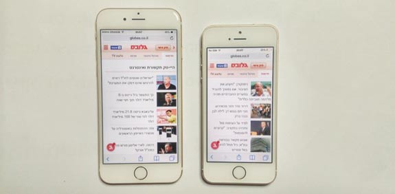 iPhone 6 and iPhone 5