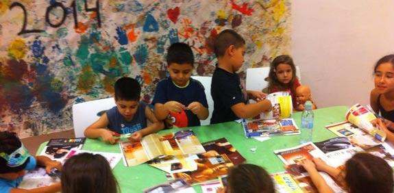 ילדי קייטנת קצפת תות איתוראן /  צלם: חלי עובד