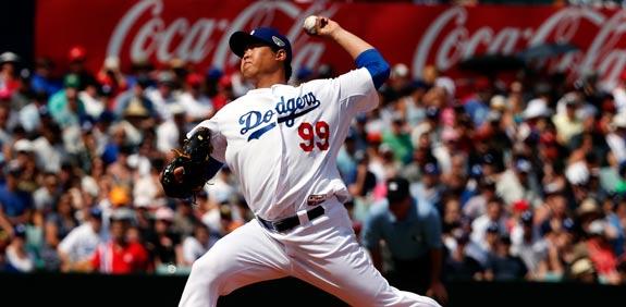 היום ג'ין ריו שחקן בייסבול לוס אנג'לס דודג'רס / צילום: רויטרס