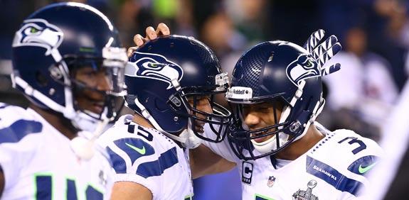 שחקני קבוצת ה-NFL סיאטל סיהוקס / צילום: רויטרס