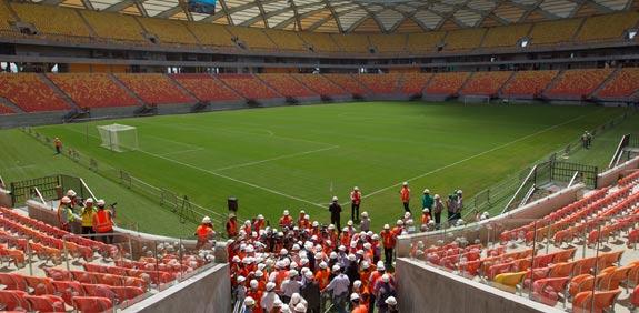 האצטדיון במנאוס שיארח את מונדיאל 2014 בברזיל / צלם: רויטרס