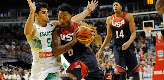"""דריק רוז, נבחרת ארה""""ב בכדורסל / צלם: רויטרס"""