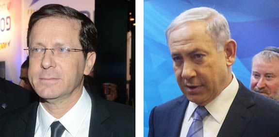 Isaac Herzog and Benjamin Netanyahu