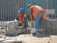 פועלי בניין, עובדים זרים, בניה    / צלם:  תמר מצפי