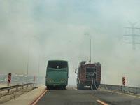 שריפה כביש / צילום: תמר מצפי