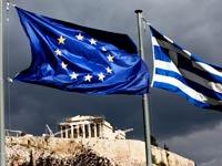 דגל יוון דגל האיחוד האירופי / צלם: בלומברג