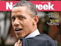 """ברק אובמה על שער ה """"ניוזוויק"""" / צילום: מתוך שער ה """"ניוזוויק"""""""